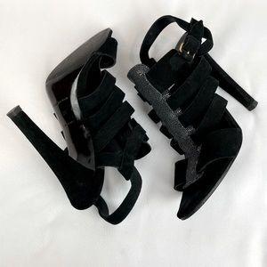 Balenciaga Paris chic suede strappy heels
